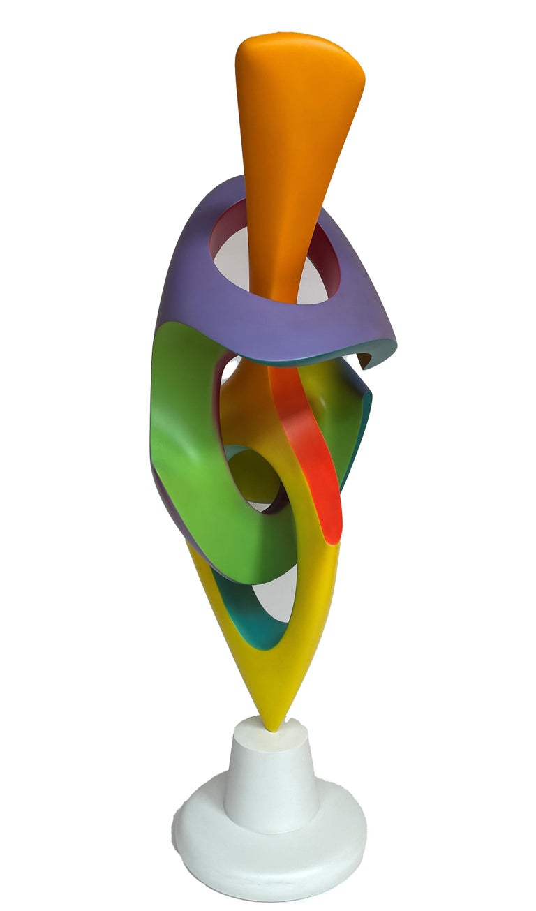 Apocalypse, Abstract Sculpture, Brightly Colored Geometric Intertwined Form In New Condition For Sale In Chicago, IL