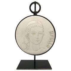 Apollo Bas Plaster Relief with Custom Stand