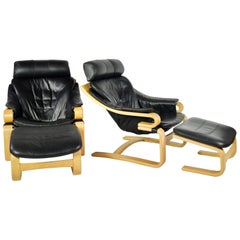 Apollo Chair and Ottoman by Svend Skipper for Skippers Mobler