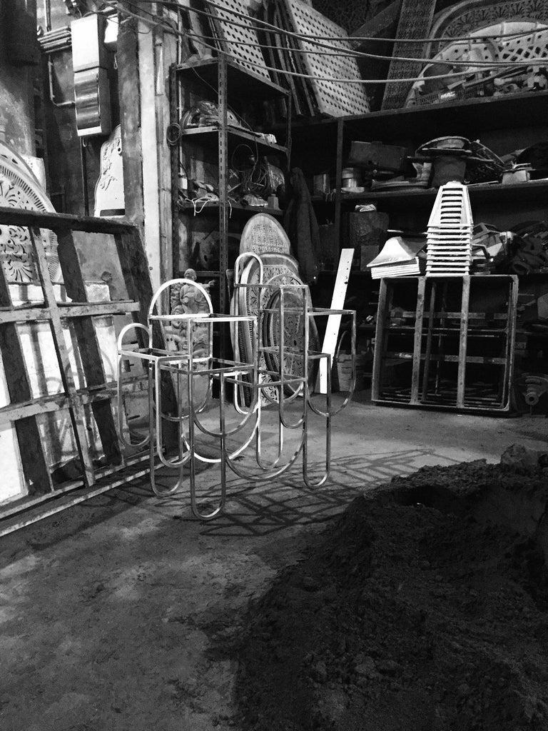 Apollo Console, Bookshelf, Black Aluminium Frame, Oxidised Brass by Lara Bohinc For Sale 4