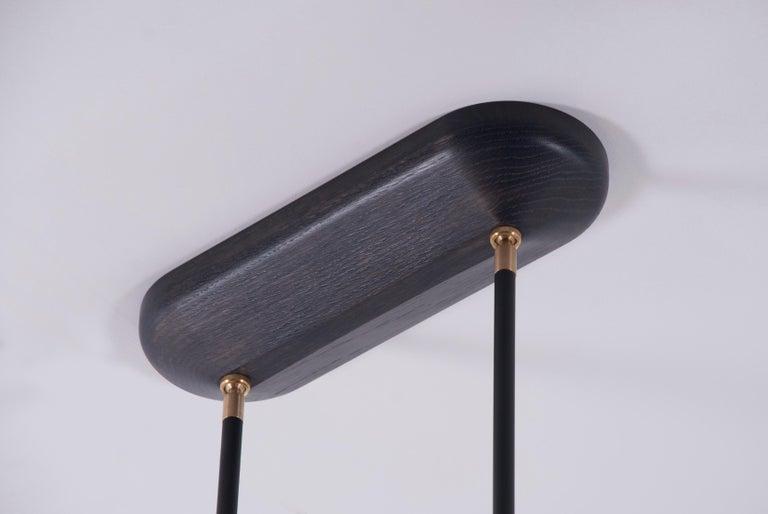 Apollo Four Chandelier - Contemporary Matte Black Linear LED Light Fixture For Sale 3