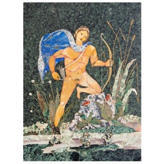 """Apollo"" Large Pietra Dura Plaque"