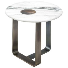 Apollo Side Table in Burnished Metal