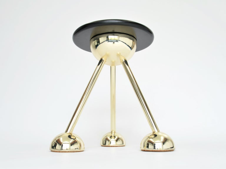 Space Age Apollo Tripod Side Table in Gold by Connor Holland For Sale