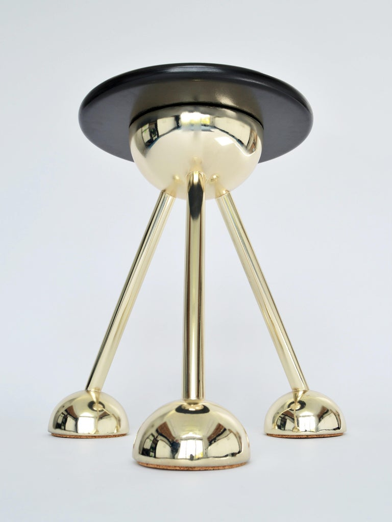 Dyed Apollo Tripod Side Table in Gold by Connor Holland For Sale