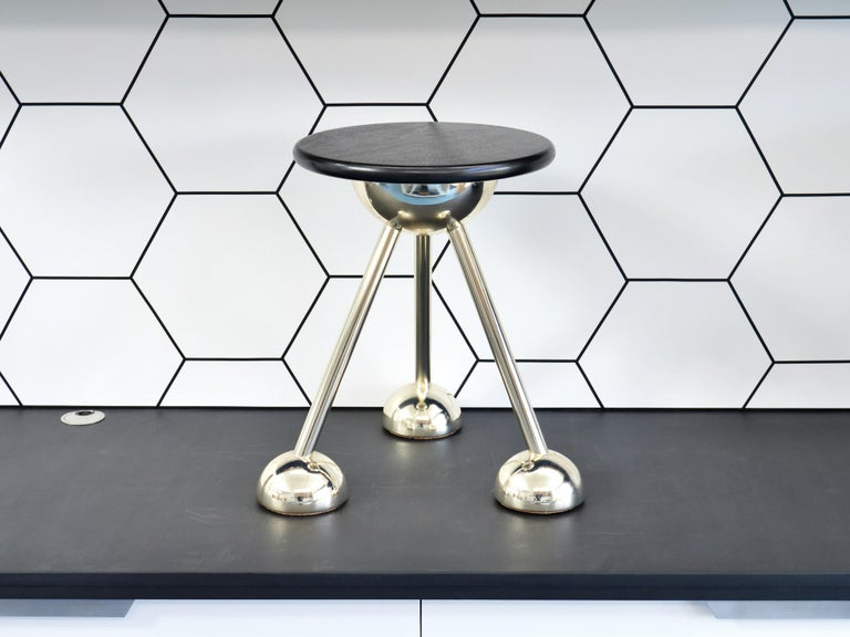 Contemporary Apollo Tripod Side Table in Gold by Connor Holland For Sale