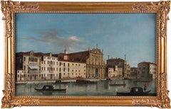 18th century Italian landscape painting - View Venice - Oil Canvas Italy Rococò