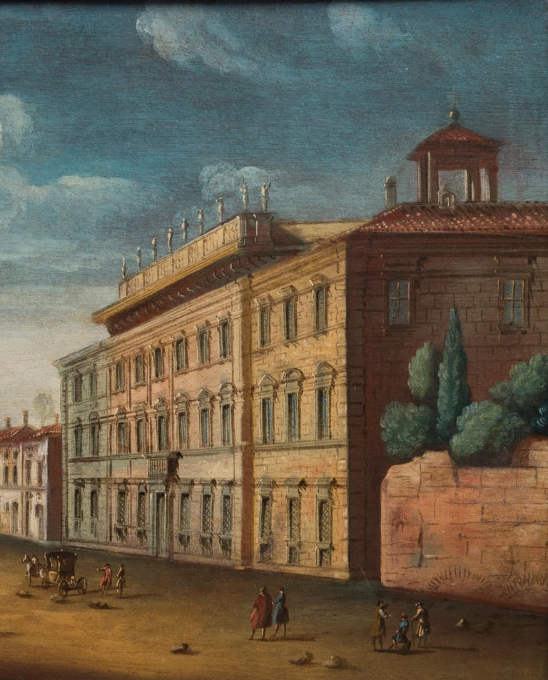 Master of Langmatt Foundation View of Rome Square of Holy Apostles   For Sale 1
