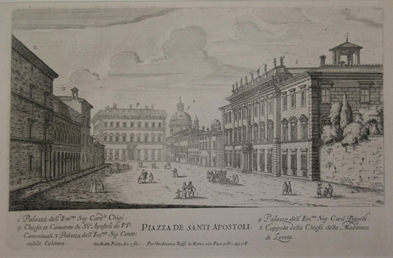 Master of Langmatt Foundation View of Rome Square of Holy Apostles   For Sale 2