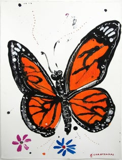 """Psychi 3"" from The Soul series, Pop contemporary Monarch Butterfly painting"