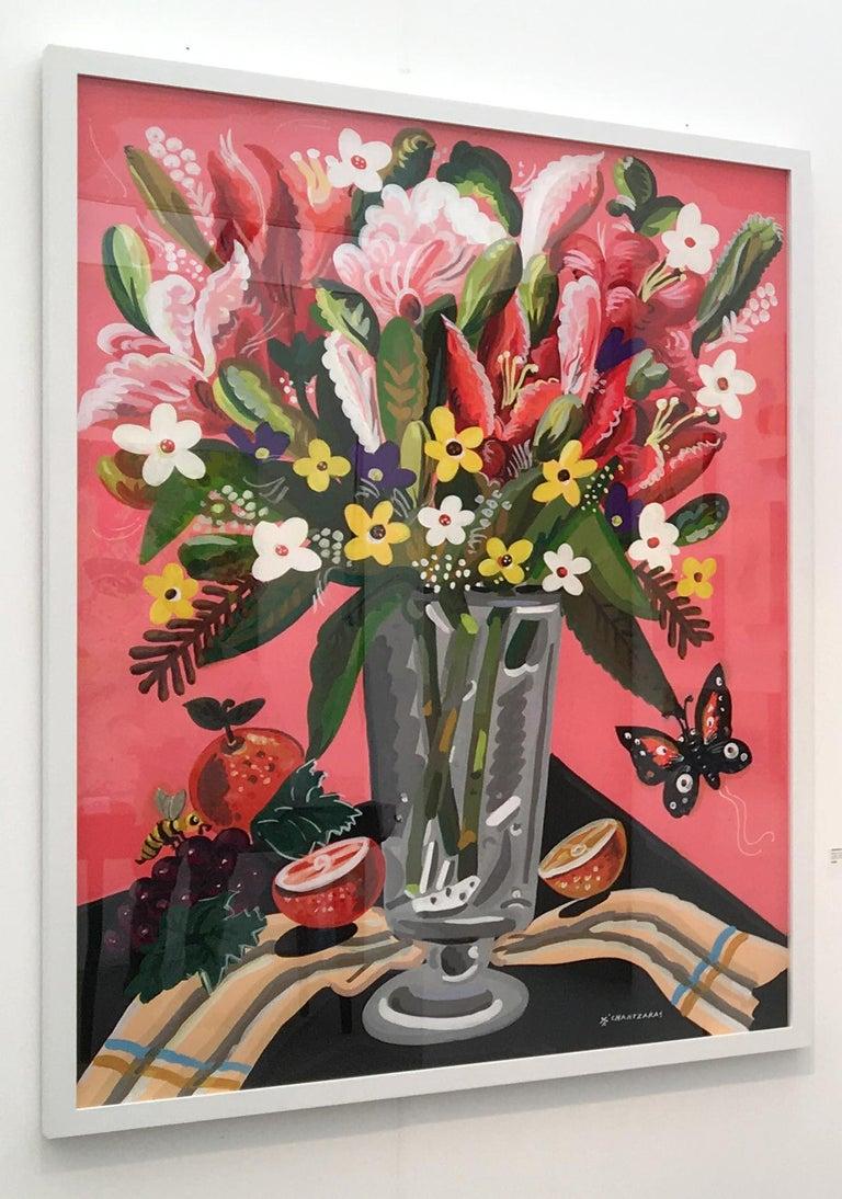 World of Abundance - Pop art style-classical colorful still-life flower painting - Contemporary Painting by Apostolos Chantzaras