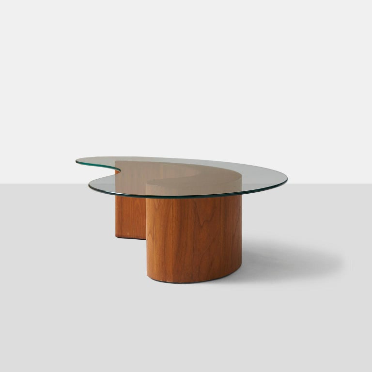 American Apostrophe Shape Coffee Table Attributed to Vladimir Kagan For Sale
