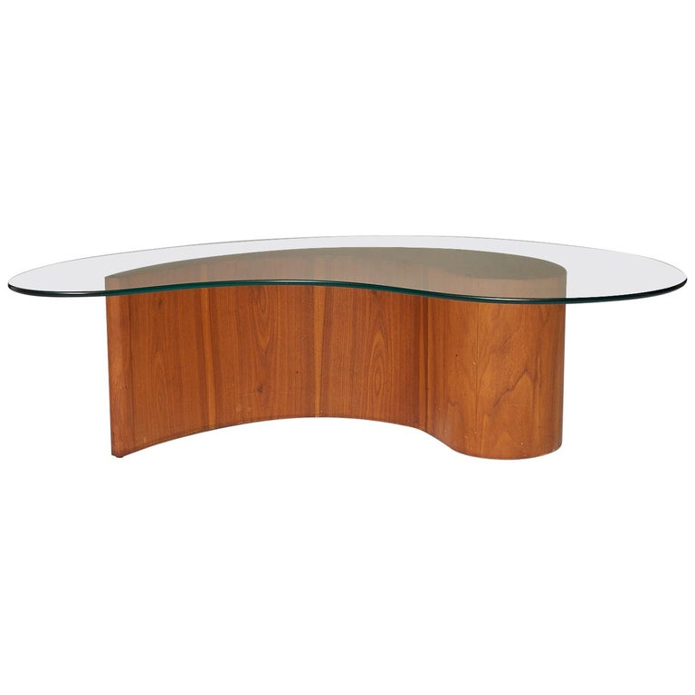 Apostrophe Shape Coffee Table Attributed to Vladimir Kagan For Sale