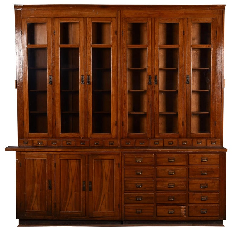Apothecary Display Cabinet circa 1920s Number 7 For Sale
