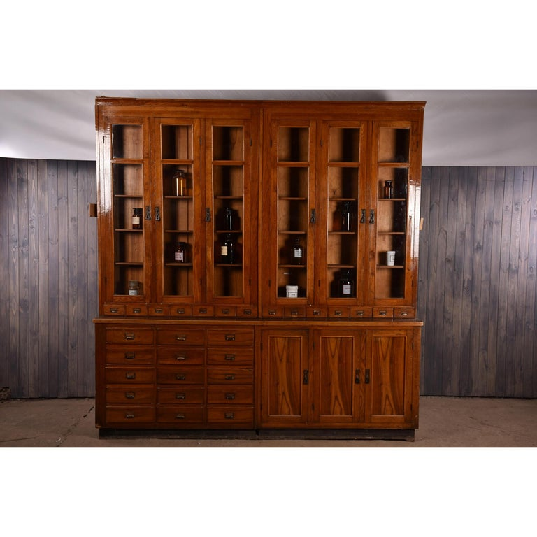 Apothecary No.8   Apothecary display cabinet circa 1930s Number 8 Apothecary / Pharmacy / Chemist / Shop Display / Restaurant cabinet circa 1930s  Large Apothecary Pharmacy beech display cabinet dating to circa 1930s, This piece is one of