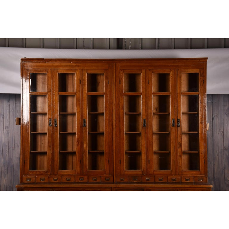 Ukrainian Apothecary Display Cabinet circa 1930s Number 8 For Sale