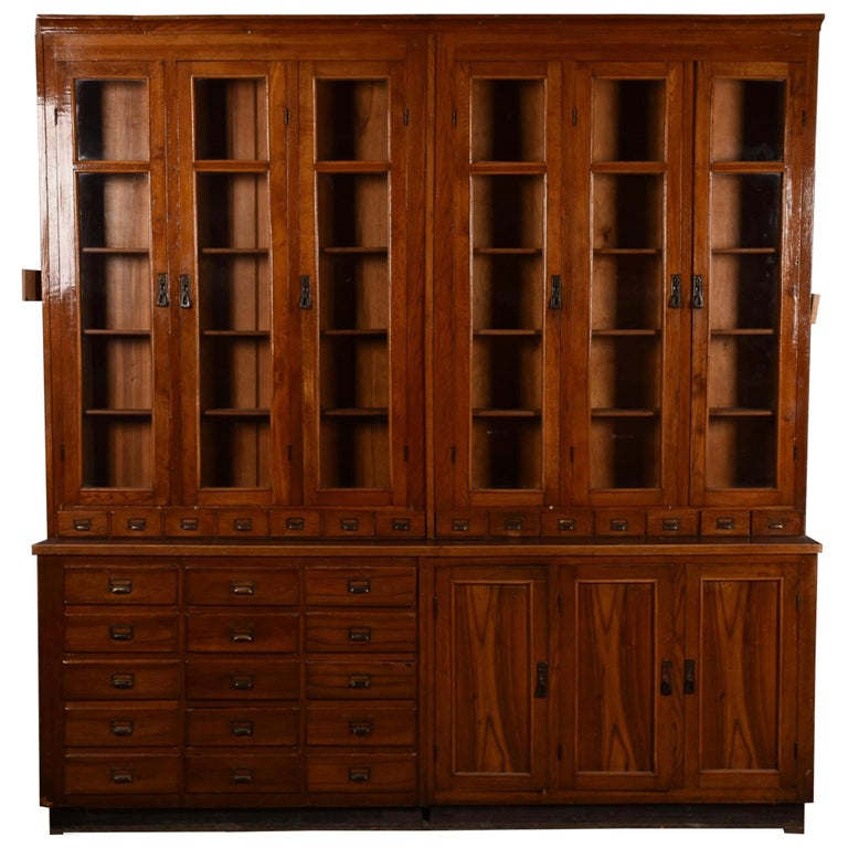 Apothecary Display Cabinet circa 1930s Number 8 For Sale