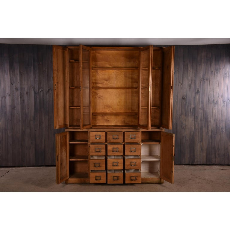 Apothecary Haberdashery Display Cabinet circa 1930s Number 9 For Sale 3