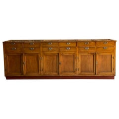 Apothecary Haberdashery Display Counter Sideboard circa 1930s Number 13
