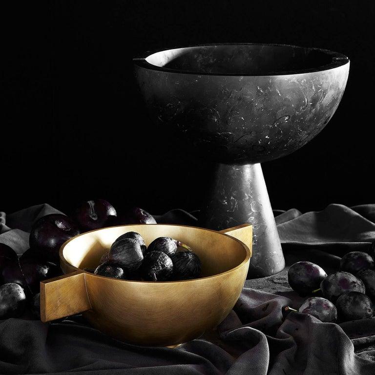 American Apparatus Studio Neo Vessel Nero Kinitra Black Marble For Sale