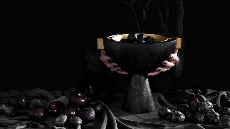 Contemporary Apparatus Studio Neo Vessel Nero Kinitra Black Marble For Sale