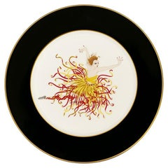 Applause Plate, Erté 'after', 1985