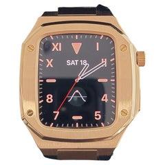 Apple Watch Custom ROO Style 18k Rose Gold Plated Watch Case AWROSE