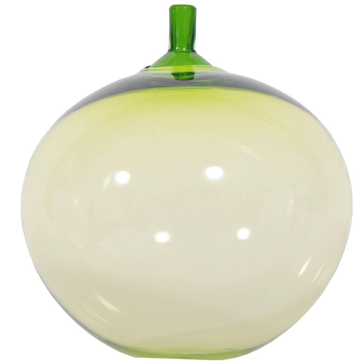 """""""Apple"""" Art Glass by Ingeborg Lundin for Orrefors"""