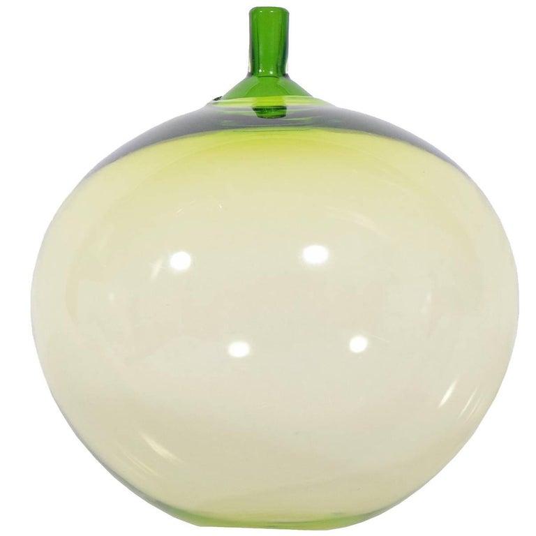 """""""Apple"""" Art Glass by Ingeborg Lundin for Orrefors For Sale"""