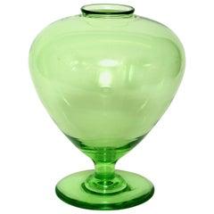 Apple Green Venetian Style Union Glass Vase