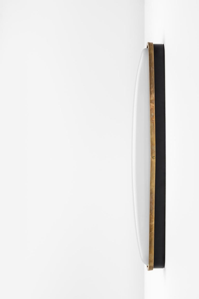 Modern PAMPLONA Wall Lamp in Brass and Opal by Dimoremilano  For Sale