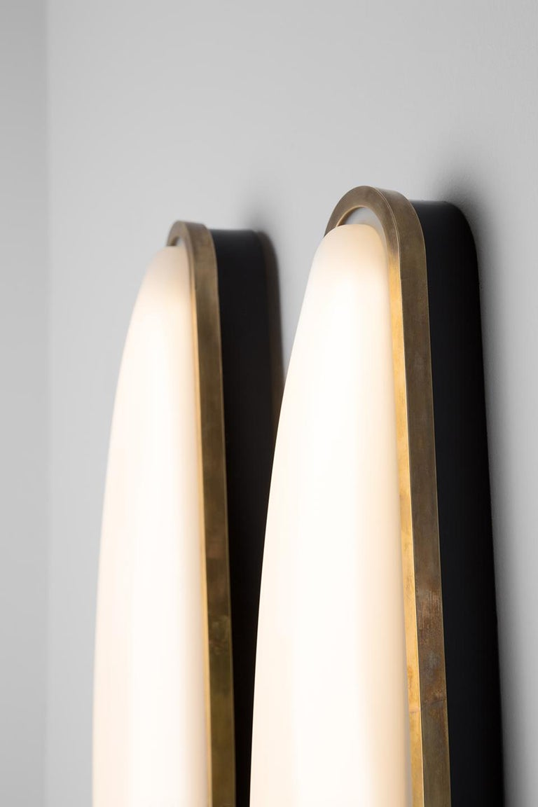Italian PAMPLONA Wall Lamp in Brass and Opal by Dimoremilano  For Sale