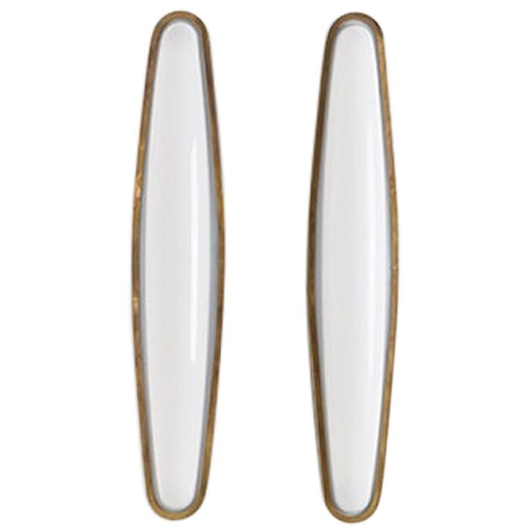 PAMPLONA Wall Lamp in Brass and Opal by Dimoremilano  For Sale