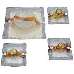 Applique Combination Venini Tony Zuccheri 1960s Murano Art Glass
