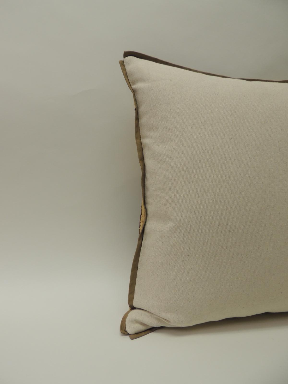 Applique Raffia Brown And Black Kuba Decorative Pillows Matisse Style