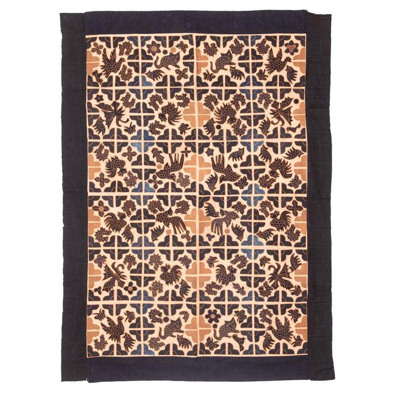 Appliquéd Chinese Minority Textile For Sale