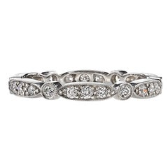 Handcrafted Sadie Old European Cut Diamond Eternity band by Single Stone