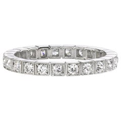Handcrafted Becca Old European Cut Diamond Eternity Band by Single Stone