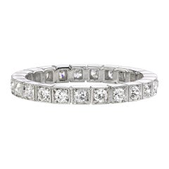 Approx. 0.60 Carat Old European Cut Diamonds Set in a Platinum Eternity Band