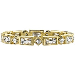 Handcrafted Madeline French Cut Diamond Eternity Band by Single Stone