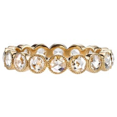 Handcrafted Gabby Rose Cut Diamond Eternity Band by Single Stone