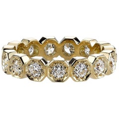 Handcrafted Stella Old European Cut Diamond Eternity Band by Single Stone
