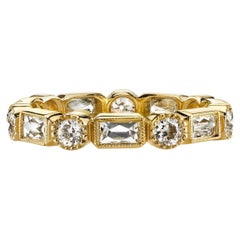 Handcrafted Melissa Mixed Cut Diamond Eternity Band by Single Stone