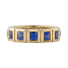 Approximately 3.00 Carats Colored Gemstones Set in a Yellow Gold Eternity Band