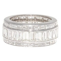 Approximately 8 Carat Diamond Platinum Eternity Ring