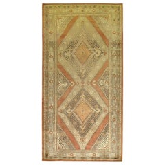 Apricot Color Wool Handmade East Turkestan Khotan Gallery Rug