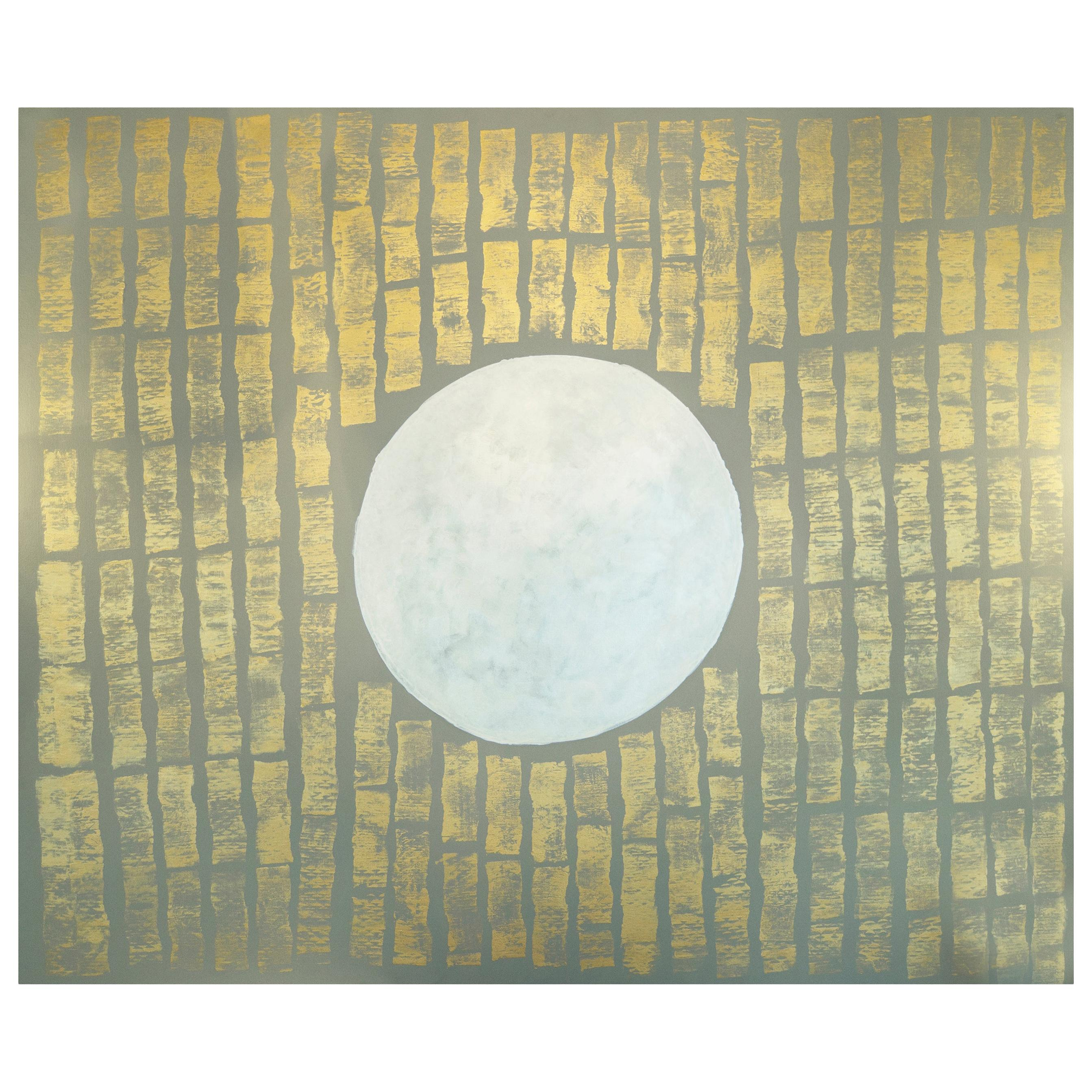 """April Able """"Golden Glow Moon"""" Contemporary Abstract Art, 2019"""