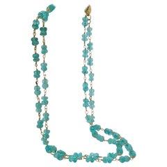 Aqua Apatite Opera Length Necklace