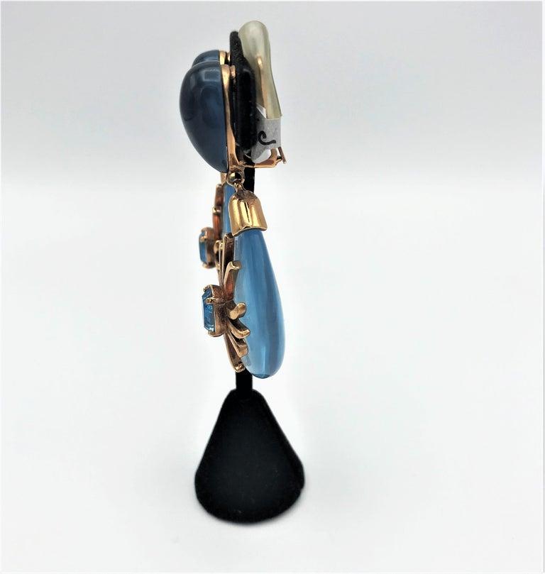 Women's Aqua drop ear clip