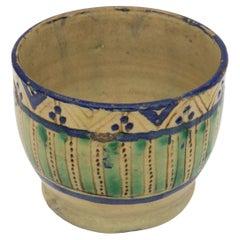 Aqua Striped Moroccan Bowl